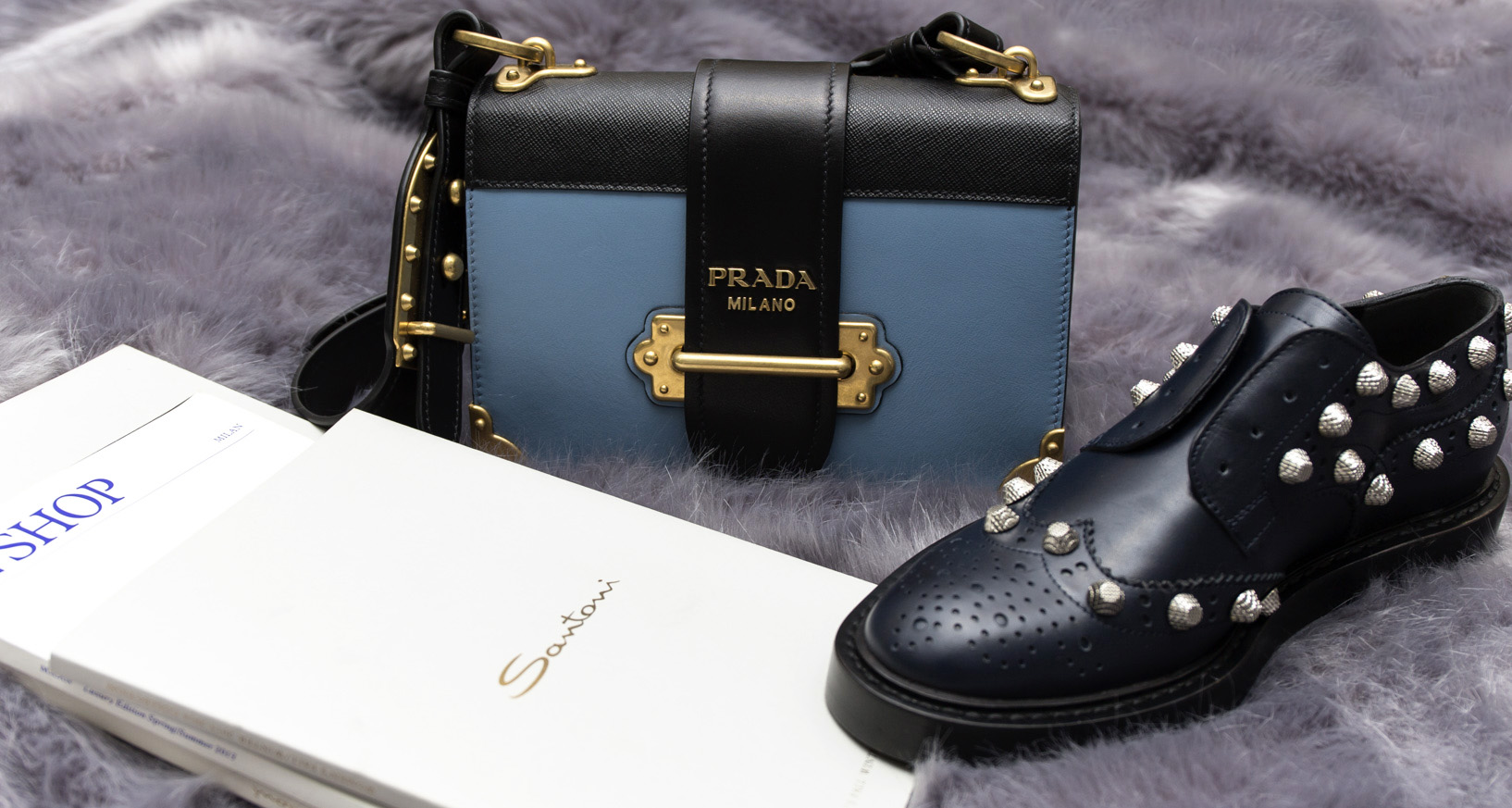 Prada Leather Cahier shoulder bag